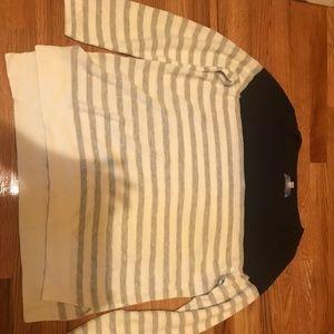 Loft striped sweater XL